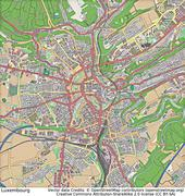 Luxembourg aerial view Stock Illustration