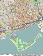 Toronto Canada aerial view - stock illustration