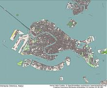Venice Italy aerial view Stock Illustration