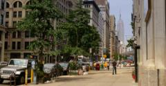 4K New York City View with Empire State Building Stock Footage