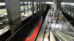 Potsdamer Platz train station in Berlin - stock footage
