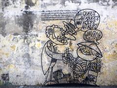 Street Art in Georgetown, Penang, Malaysia - stock photo