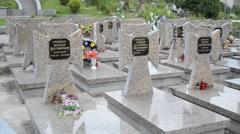 Ukrainian liberation movement heroes burial place improvement. Lviv, Ukraine. Stock Footage