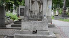 Grave of the priest. Lviv, Ukraine. Stock Footage