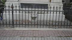 Armenian catholic archbishop Samuel Cyryl Stefanowicz monument on ancient Lychak - stock footage