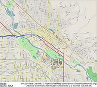 Boise Idaho aerial view Piirros
