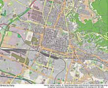 Brescia Italy aerial view - stock illustration