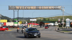 Sturgis Rally welcome sign Stock Footage