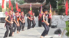 The martial arts practitioners performance traditional martial arts - stock footage