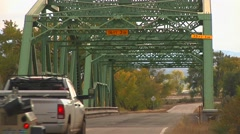 Bridge with truck Stock Footage