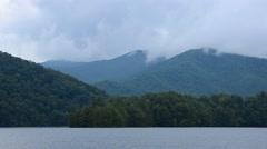 lake santeetlah great smoky mountains - stock footage