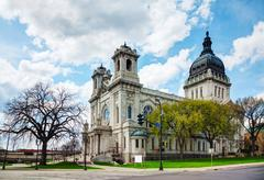 basilica of saint mary in minneapolis, mn - stock photo