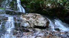 laurel falls great smoky mountains - stock footage