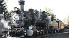 Historic steam locomotive vents steam-N8-HD P-2233 Stock Footage