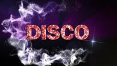 Disco Text in Particles Stock Footage