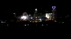 fireworks over city of charlotte on 4th of july - stock footage
