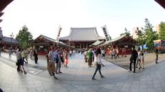 Senso-ji temple, Tokyo, Japan Stock Footage