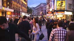 People walking at Soho, London in the evening Stock Footage