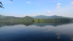 Lake santeetlah great smoky mountains Stock Footage