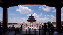 The cloudscape and the Qinian Palace of the Temple of Heaven in Beijing,China Stock Footage