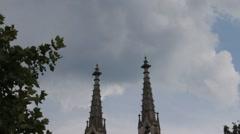 Protestant city church. Evangelische Stadtkirche. Baden-Baden,Germany Stock Footage