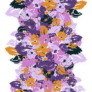 seamless pattern with decorative pansies, for invitations, cards, scrapbooking - stock illustration