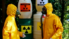Work with hazardous materials Stock Footage