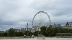 Jadin des Tuileries, Paris Stock Footage