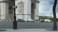 Low angle time lapse of Arc de Triomph Stock Footage