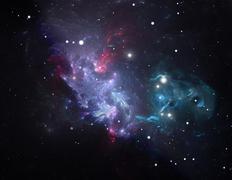 purple space star nebula - stock illustration