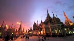 The Shwedagon Pagoda in Yangon Myanmar Stock Footage