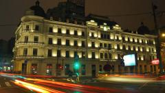 Grand Hotel du Boulevard in Bucharest, a Romanian historic monument Stock Footage