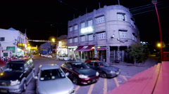 Tilt shift time lapse of Jonker Walk in night. - stock footage