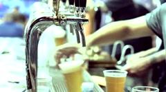 Man serving beer Stock Footage