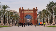 Stock Video Footage of Arc de Triomf in Barcelona