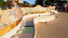 Park Guell in Barcelona Stock Footage