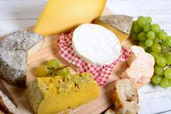 french cheese tray - stock photo