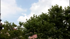 Sky  over Augusta square (Augusta platz). Baden-Baden. Germany - stock footage