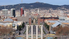 Placa Espanya in Barcelona Stock Footage