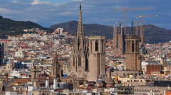 Cityscape of Barcelona - stock footage