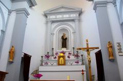 Catholic altar in the temple - stock photo