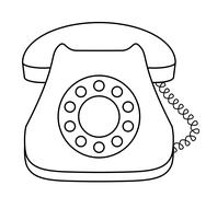 Stock Illustration of phone dial desktop, contour