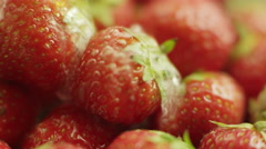 Rinsing Strawberries Stock Footage