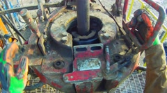 POV Drilling Rig Power Tongs Stock Footage