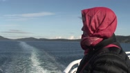 Stock Video Footage of Woman on Ferry