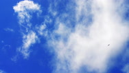 Stock Video Footage of Clouds moving fast in a summer day