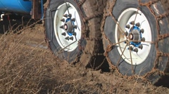Heavy truck in mud Stock Footage