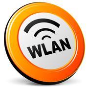 Vector wlan icon Stock Illustration