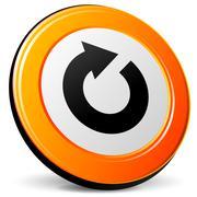 vector refresh icon - stock illustration