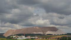 Sky over salt mine - hill, in timelapse Stock Footage